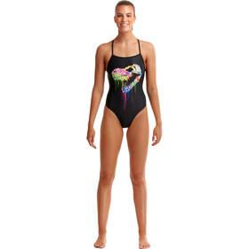 Funkita Strapped In Swimsuit Women, zwart/bont